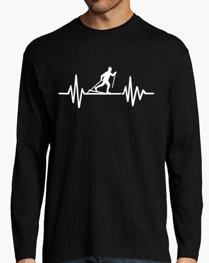 3fa65b67 cross-country skiing frequency T-shirt - 1890385 | Tostadora.com