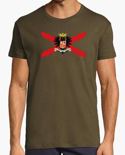 Cross-thirds burgundy t-shirt