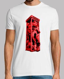 Crowded phone box