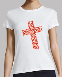 cruz catolica corazones
