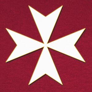 Cruz de la orden de San Juan de Malta T-shirts