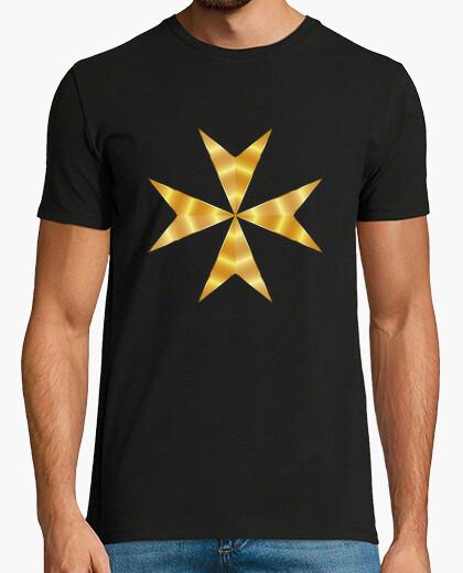 Camiseta Cruz de Malta dorada