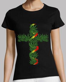 cruz de marihuana granulado