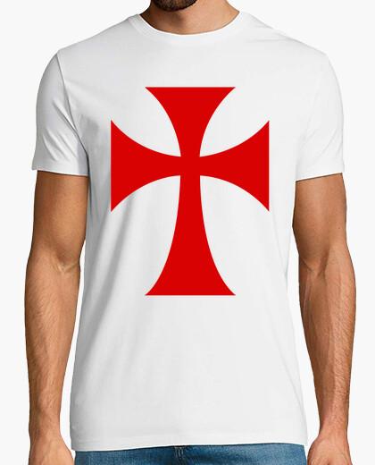 Camiseta Cruz templaria Larga Chico