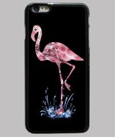 crystal print flamingo