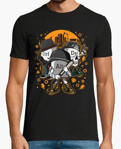 Tee-shirt ctrl alt del ordinateurs de la mafia