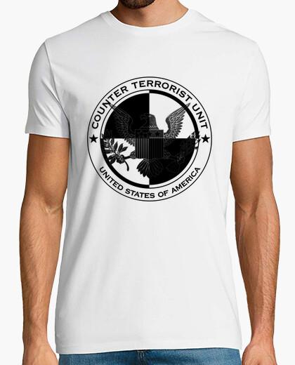 Camiseta CTU (24) [b/n invertido]
