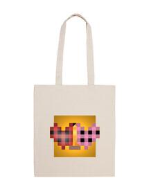 Cuadrado del Beso de Klimt bolsa