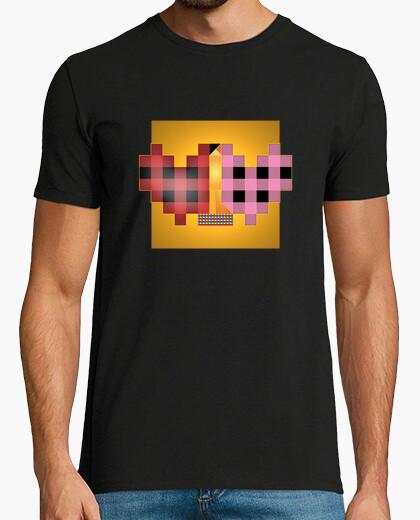 Camiseta Cuadrado del Beso de Klimt estilo retro él negro