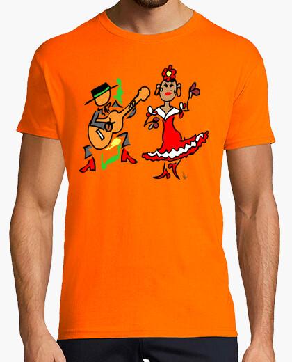 Camiseta cuadro flamenco