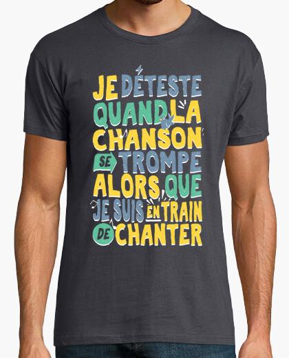 Camiseta cuando canto la canción