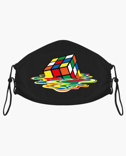 Masque cube de rubik fondu
