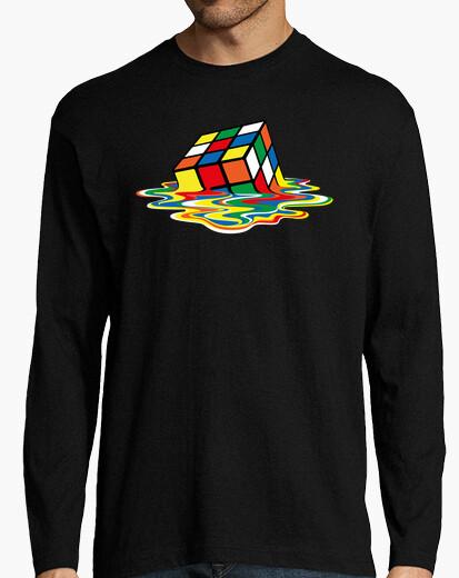 Tee-shirt cube de rubik fondu