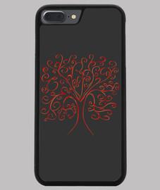 cubierta del árbol de la vida grogia iphone 7/8 plus