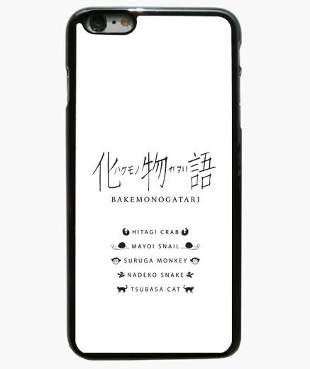 Funda iPhone 6 Plus / 6S Plus cubierta del iphone 6 más, negro, capítulos bakemonogatari