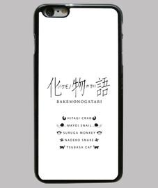 cubierta del iphone 6 más, negro, capítulos bakemonogatari