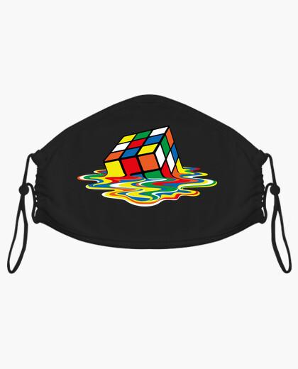 Mascarilla Cubo de Rubik Derretido
