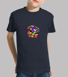 Cubo de Rubik Niño, manga corta, azul marino