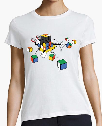 Camiseta cubo mágico que cae