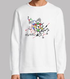 cubo rubick esquema negro