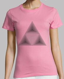 Cubo y triángulos.