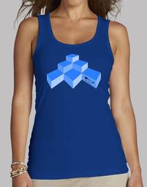 Cubos Mujer, sin mangas, azul royal