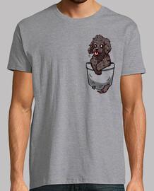 cucciolo di cockapoo tascabile - camicia da uomo