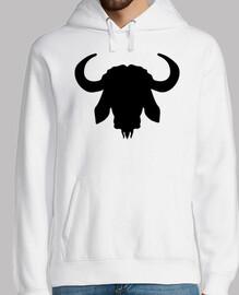 cuernos de cabeza de búfalo