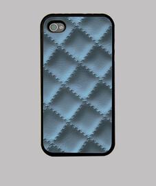 cuero acolchado (azul metálico)