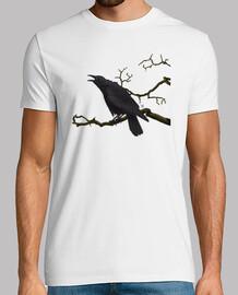 Cuervo camiseta hombre