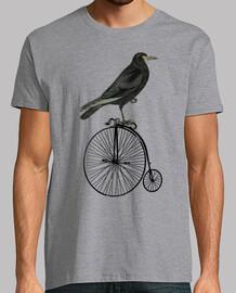 Cuervo en bicicleta