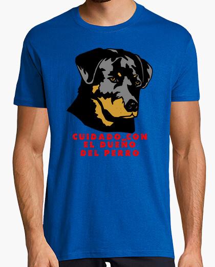 Camiseta Cuidado con el dueño del perro