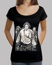 Culloden en blanco y negro camiseta mujer