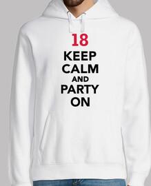 Cumpleaños 18 mantener la calma y fiest