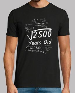 Cumpleaños 50 raíz cuadrada de 2500