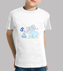 cumpleaños 5 años elefante azul