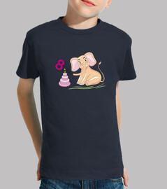 cumpleaños 8 años elefante rosa