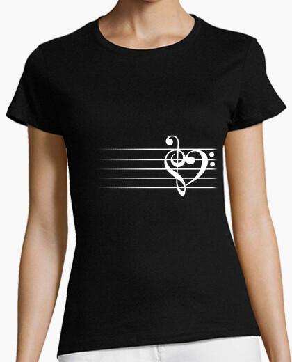 Cuore di musica - t-shirt donna
