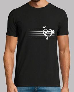 cuore di musica - t-shirt uomo
