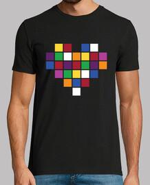 Cuore di pixel multicolor a 8 bit
