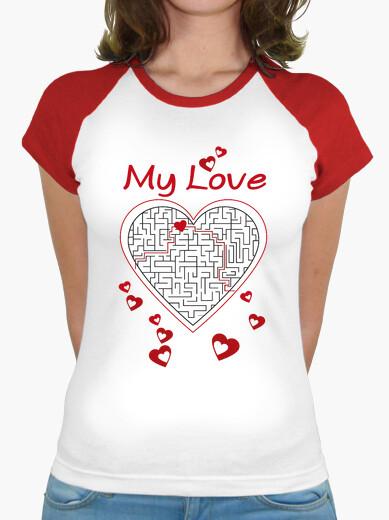 Camiseta cuore labirinto