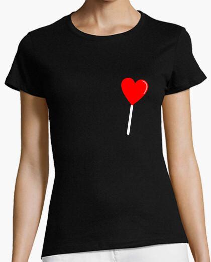 T-shirt cuore lecca-lecca