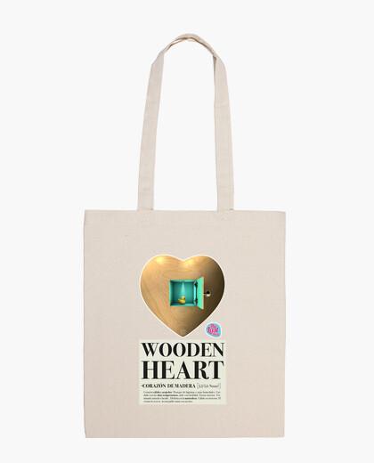 Borsa cuore legno bag