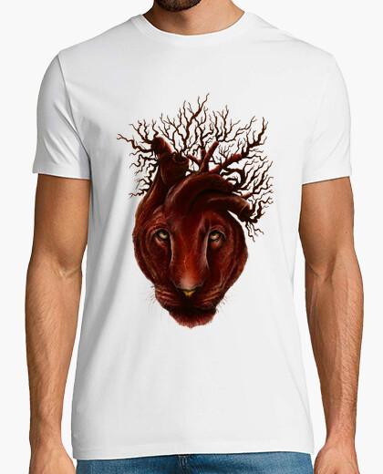 T-shirt cuore leonessa