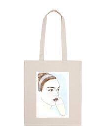 cup lola kabuki bag handle short blue background