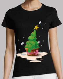 Cupcake Árbol de Navidad Magdalena Muff