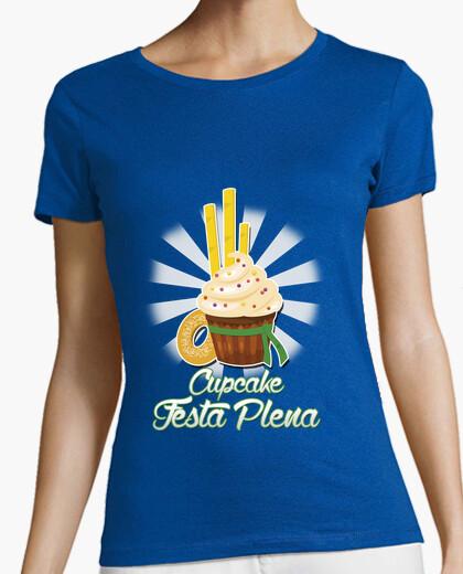 Camiseta Cupcake festa plena Verde