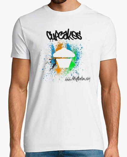 Camiseta Cupcakes arte moderno