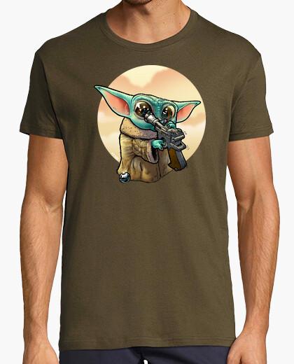 Curious baby yoda t shirt t-shirt