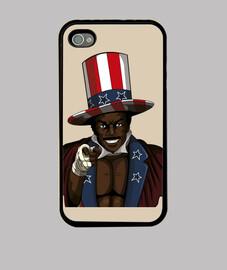 custodia cover iphone 4, nera apollo